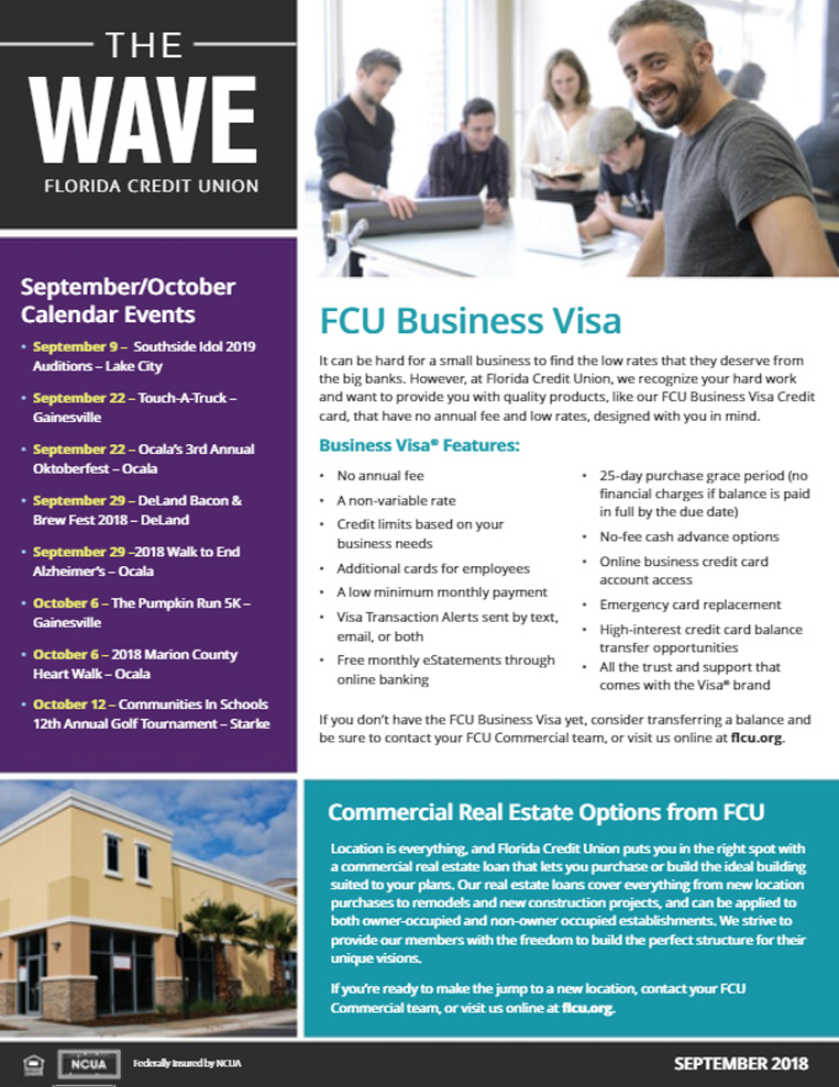 newsletters the wave newsletter florida credit union